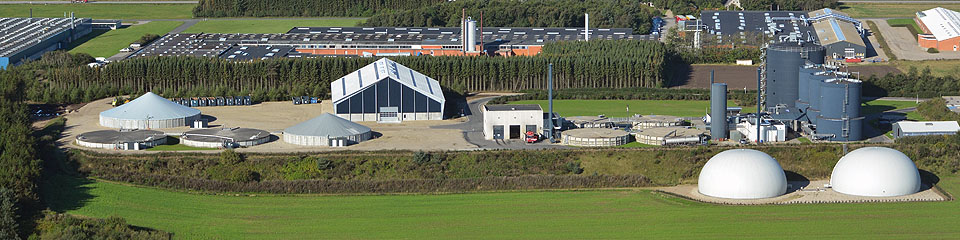 Aerial photo of Lemvig Biogas